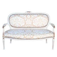 Painted and Parcel Gilt Louis XVI Settee