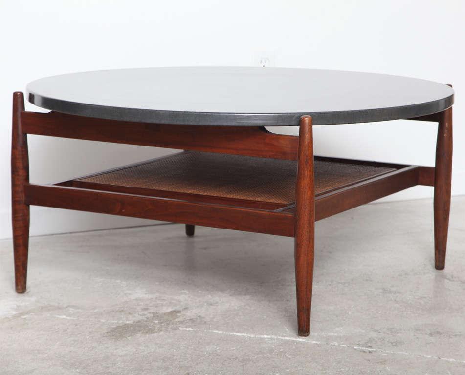 Mid century modern jen s risom slate top coffee table at 1stdibs