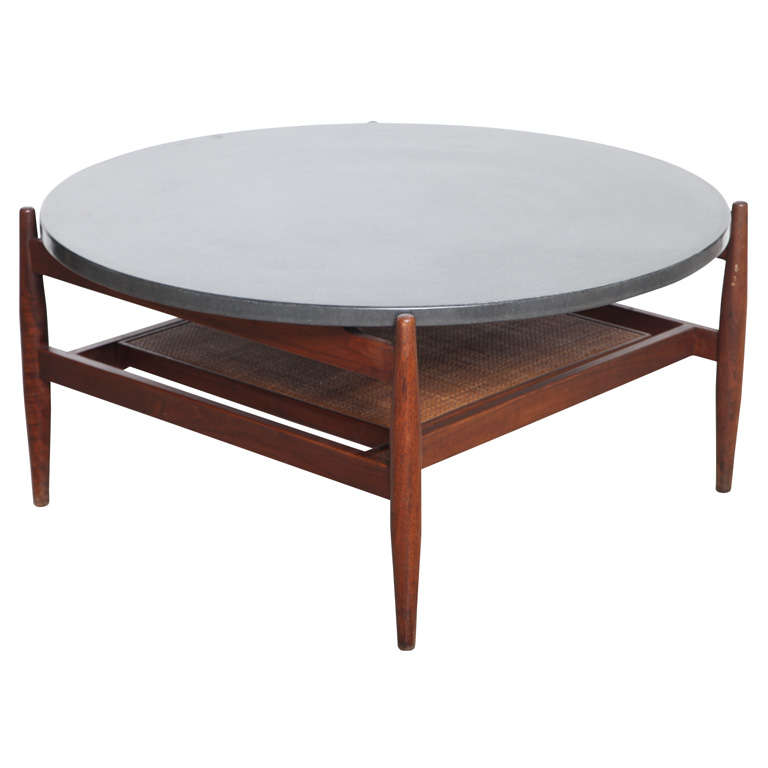Mid century modern jen 39 s risom slate top coffee table at 1stdibs Slate top coffee tables