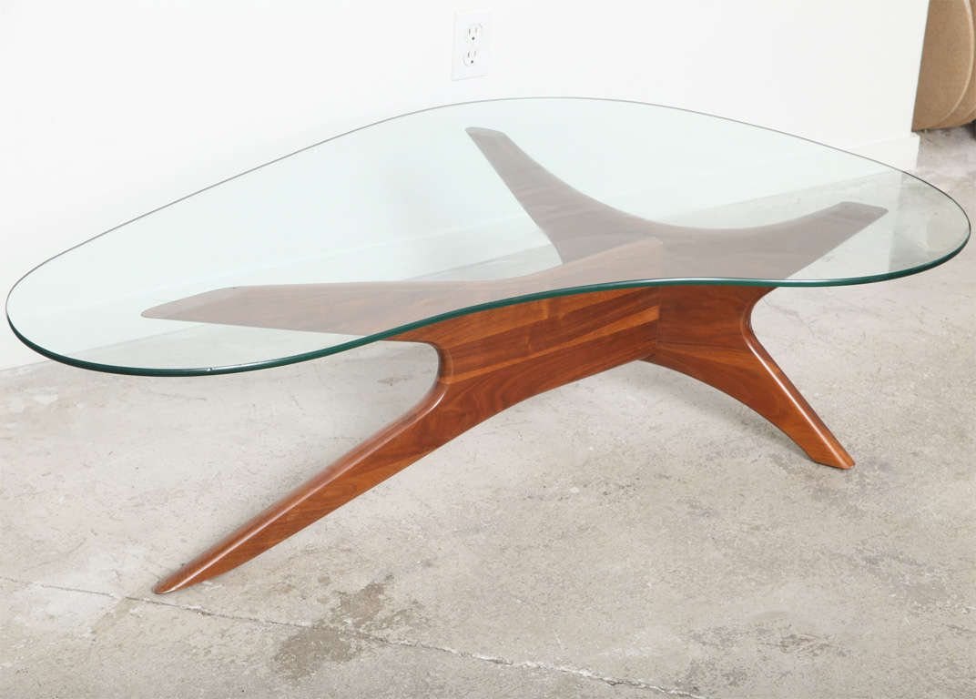 Kidney Shaped Glass Top Coffee Table Mid Century Adrian Pearsall Kidney Shaped Coffee Table At 1stdibs