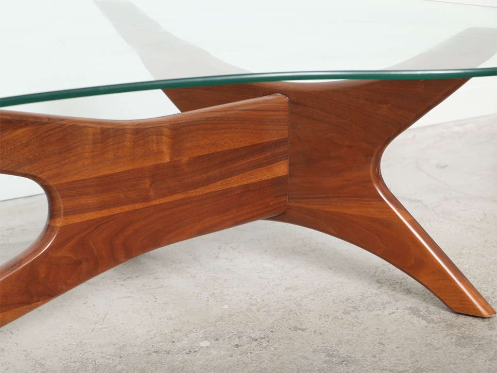 Mid Century Adrian Pearsall Kidney Shaped Coffee Table At 1stdibs