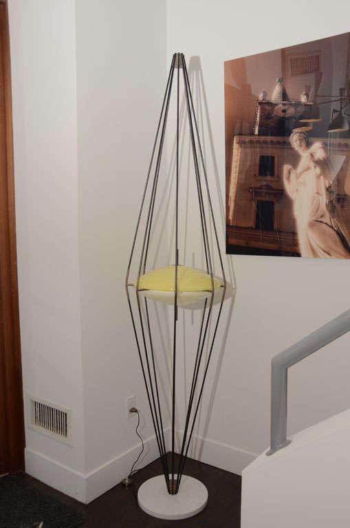 italian floor lamp by arredoluce for sale at 1stdibs. Black Bedroom Furniture Sets. Home Design Ideas