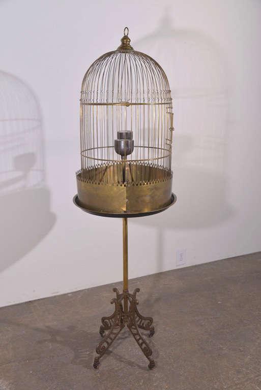 Victorian Brass Bird Cage image 2