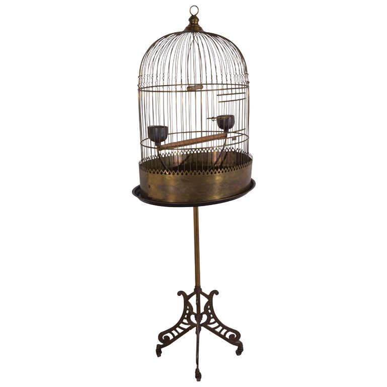 Victorian Brass Bird Cage At 1stdibs
