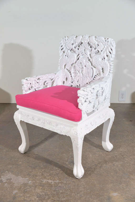 This hand painted hepplewhite style chairs is no longer available - Set Of Eight Carved Asian Chairs At 1stdibs