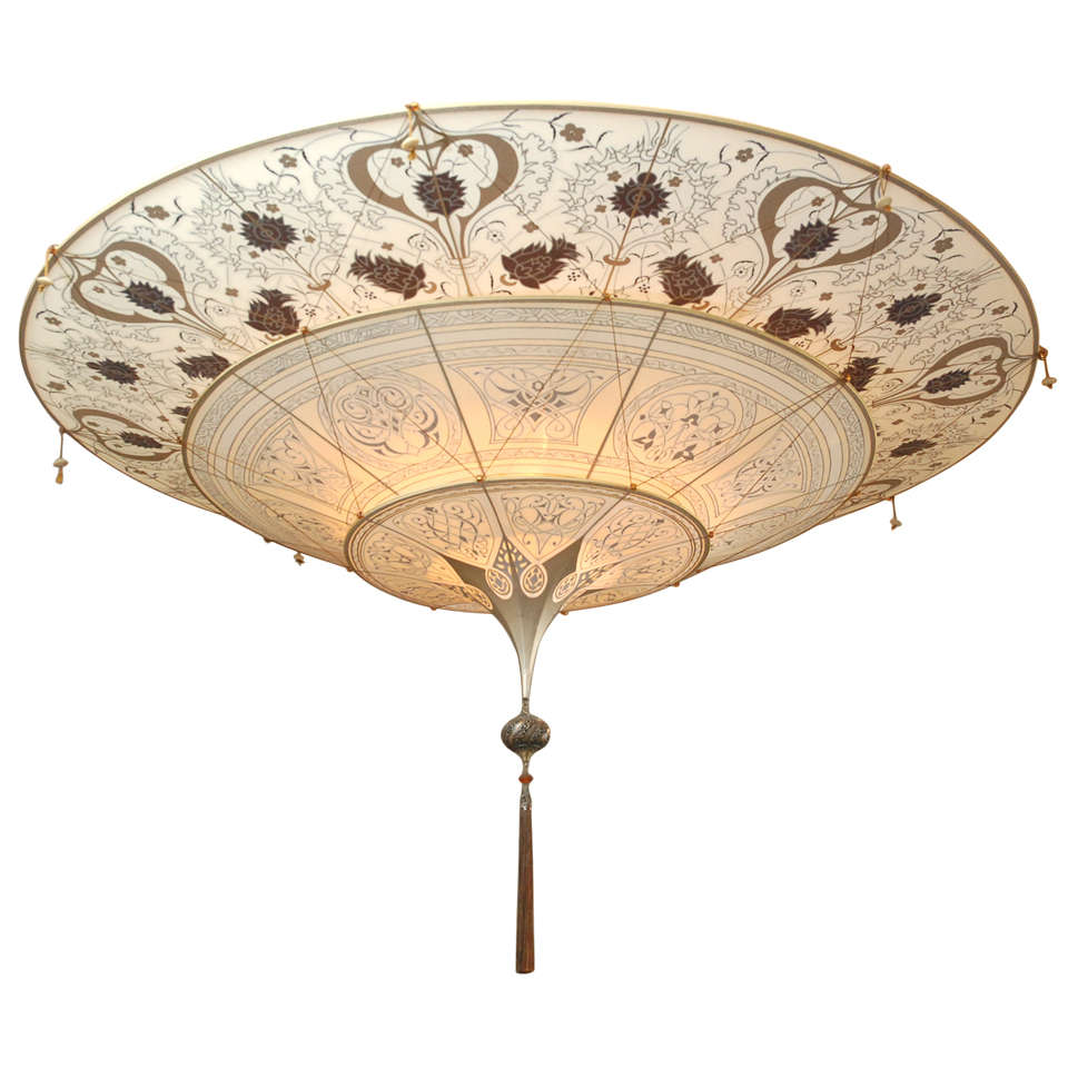 scheherazade chandelier fortuny and tier two ivory green floral silk