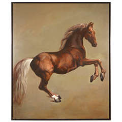 A Large Horse Painting