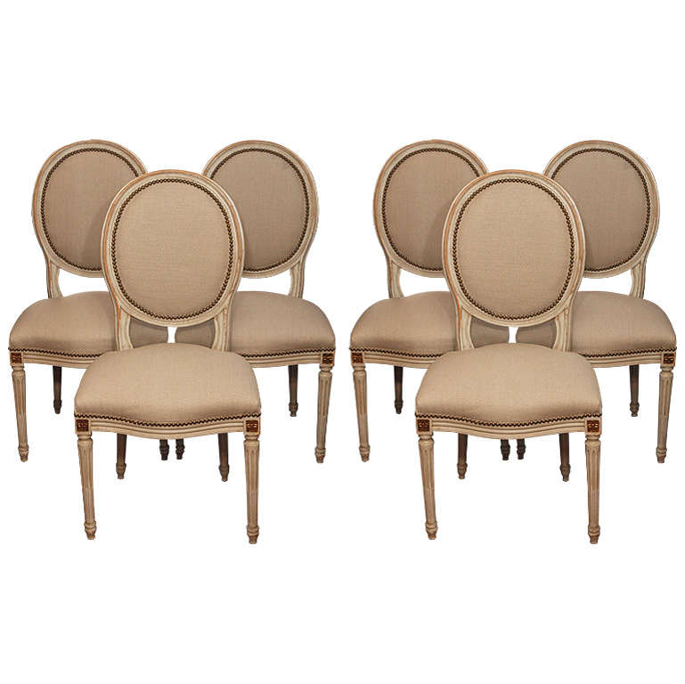 Set Of 6 Louis XVI Style Dining Room Chairs At 1stdibs