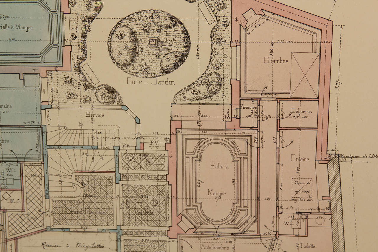 French architectural drawings for sale at 1stdibs for Architectural drawings for sale