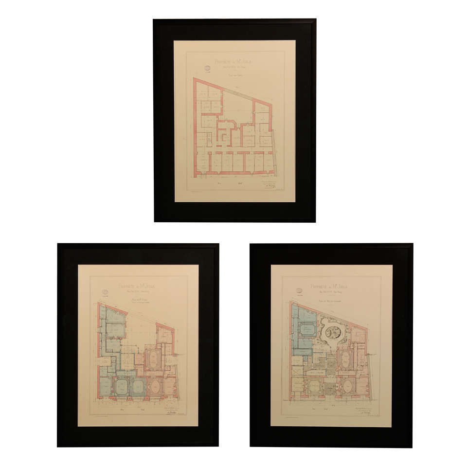 french architectural drawings for sale at 1stdibs