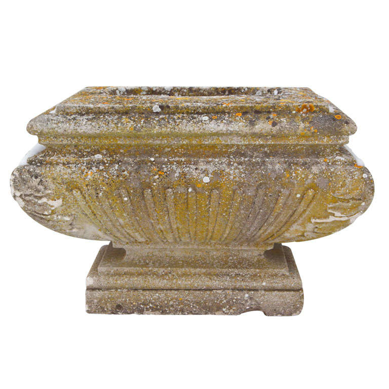 Unique Single Carved Stone Planter For Sale At 1stdibs