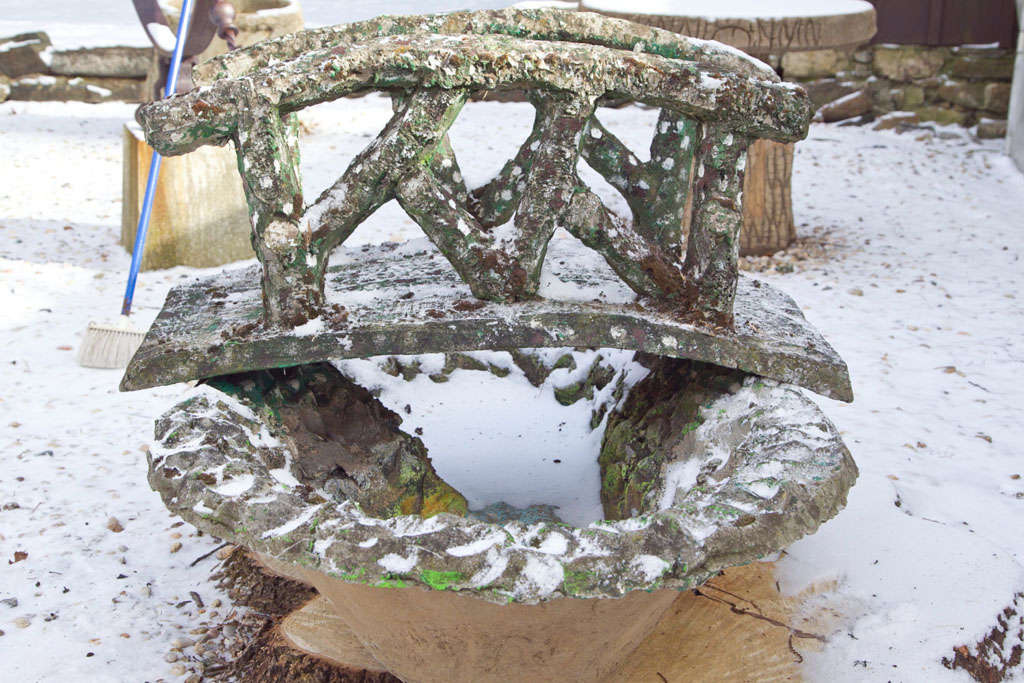Faux bois bridge and pond for sale at 1stdibs for Garden pond bridges sale