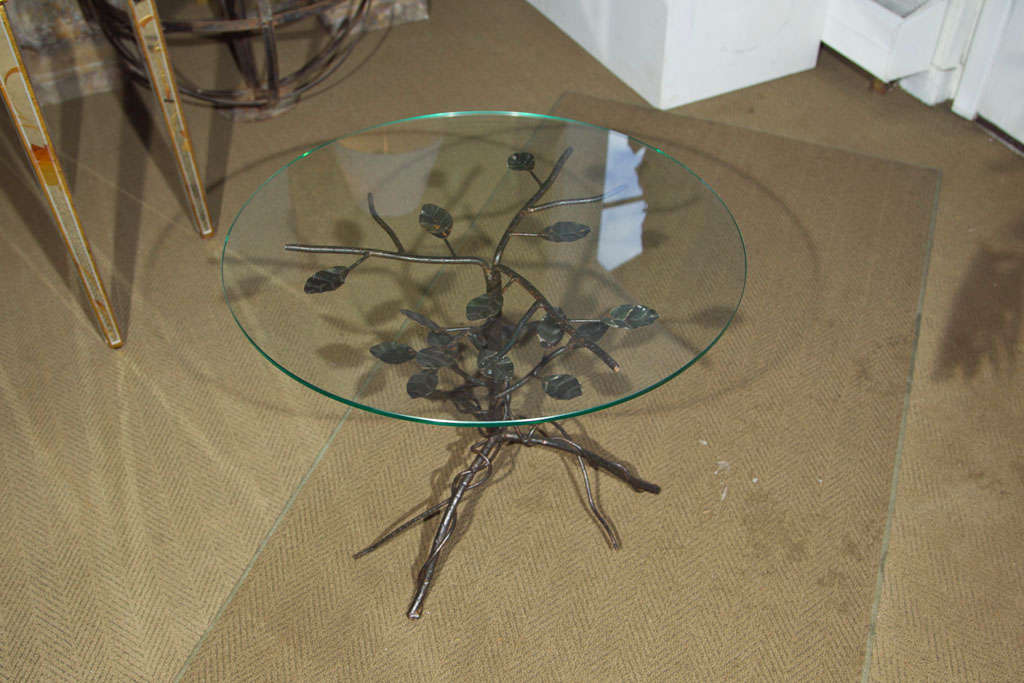 Pair of Black Wrought Iron End Tables 5
