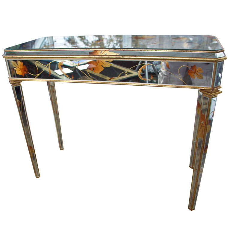 """Mirror """"Beechtree"""" Design Console Table For Sale"""
