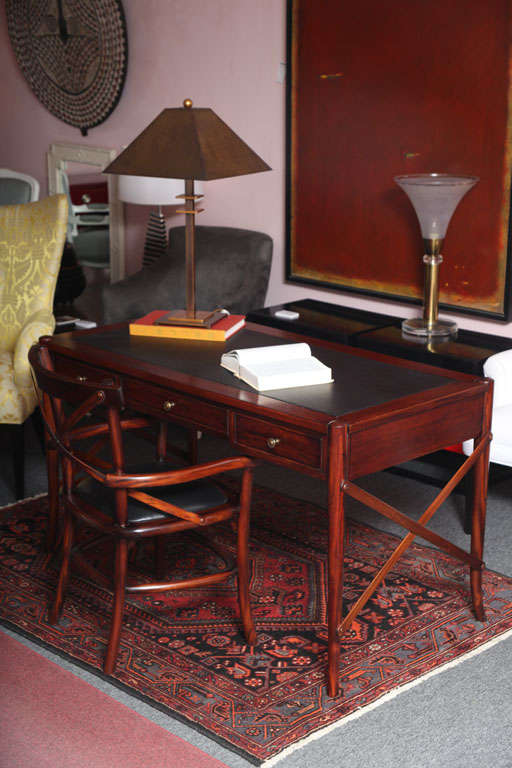 Mahogany Desk, Handmade, Safari Style, Chair Will Fit under Desk,last desk avail 3