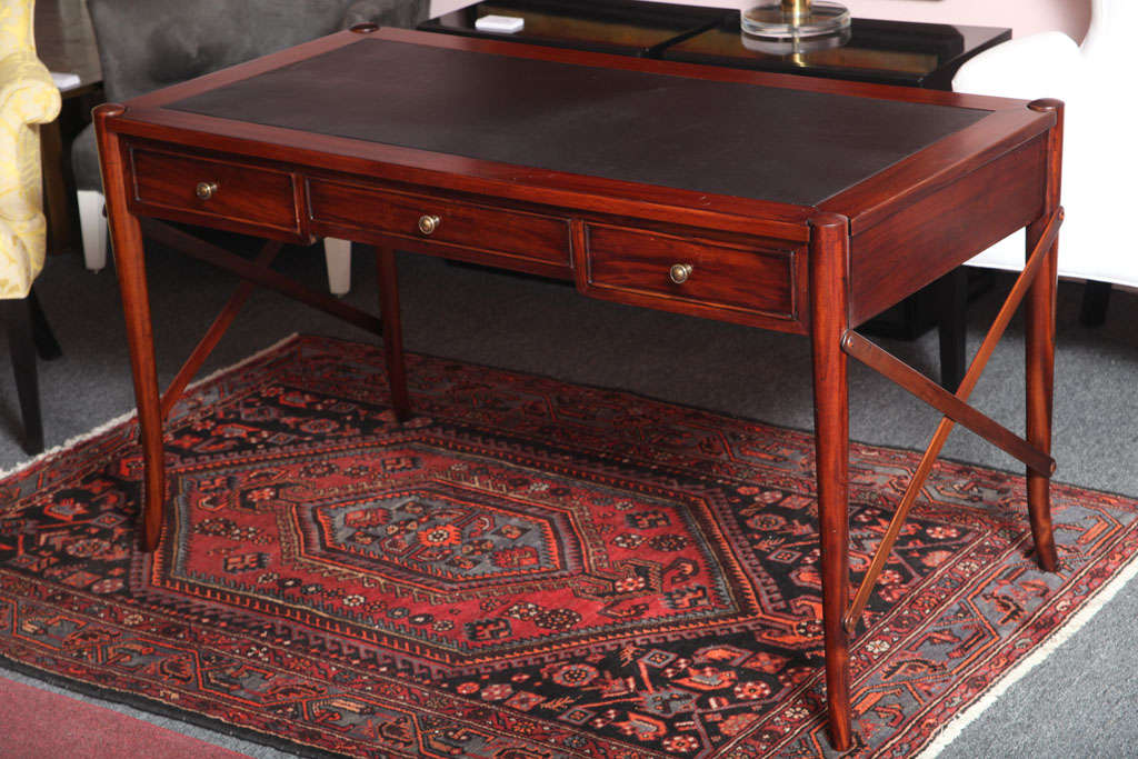 Mahogany Desk, Handmade, Safari Style, Chair Will Fit under Desk,last desk avail 4