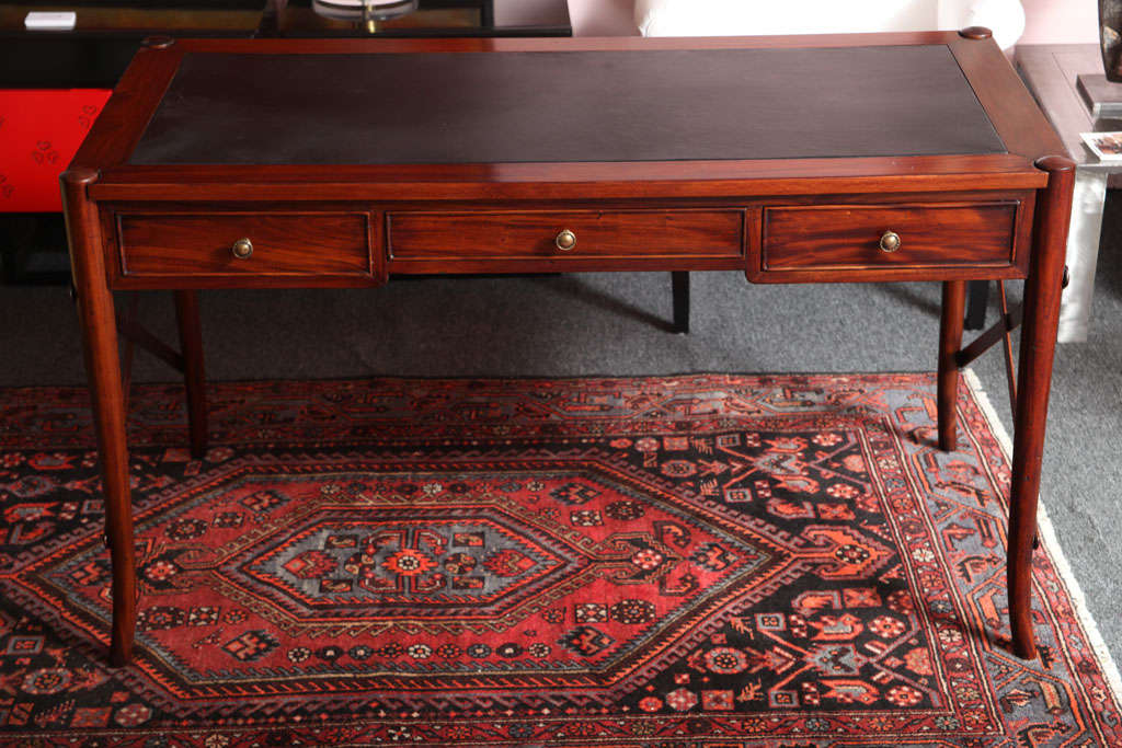 Mahogany Desk, Handmade, Safari Style, Chair Will Fit under Desk,last desk avail 5