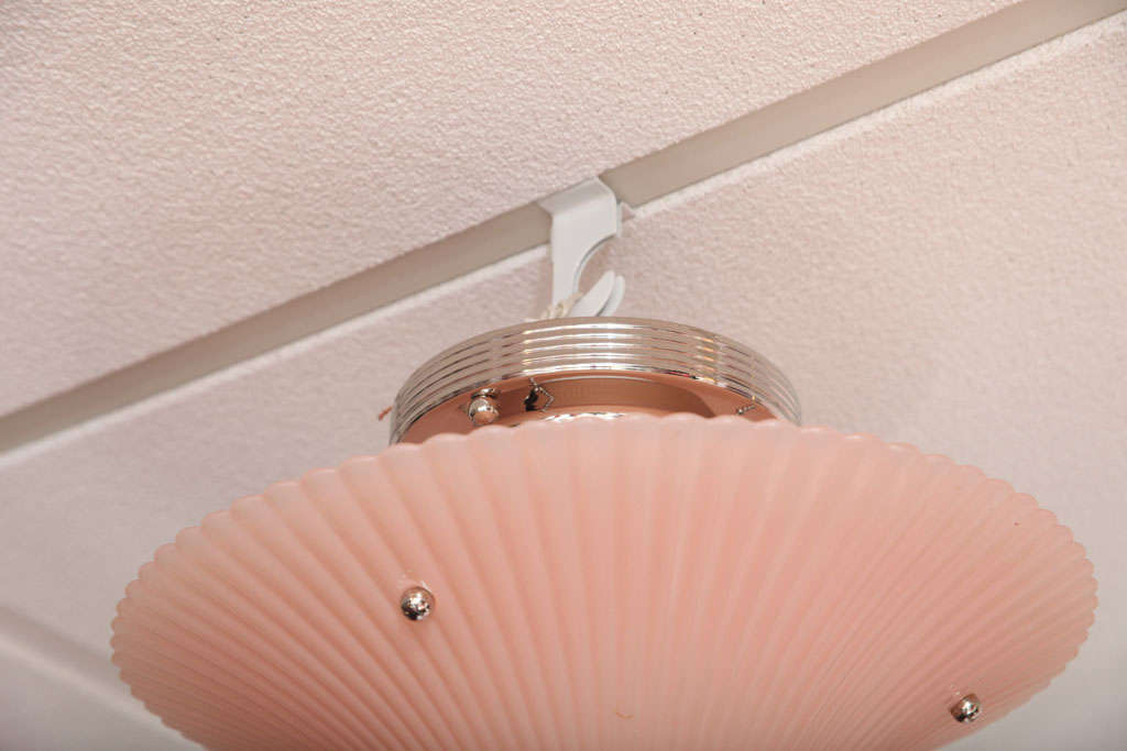 Pair of Deco, Pink Chandeliers, Hot Pink For Sale 2