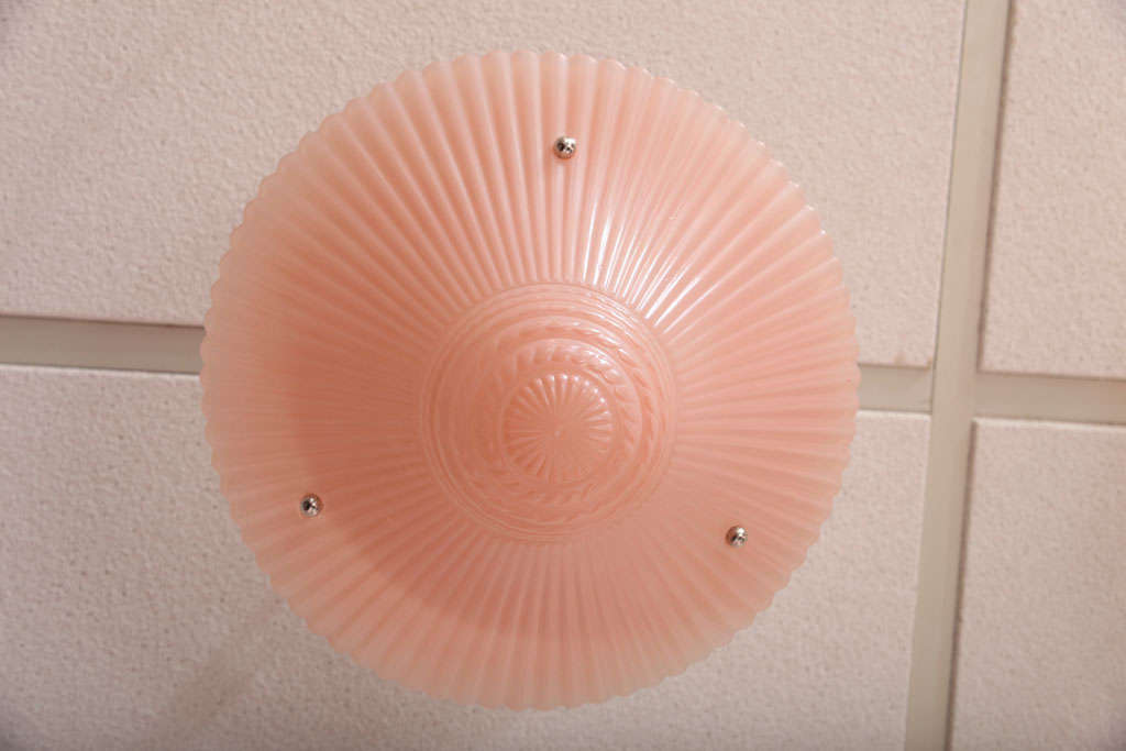 Pair of Deco, Pink Chandeliers, Hot Pink For Sale 3