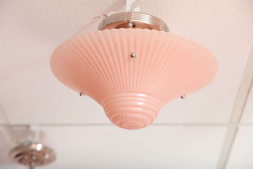Pair of pink chandeliers Midcentury stunning delicate hot pink boudoir girlsroom. W 60-100.  Rewired  check our vintage,restored,stunning selections of lighting  Perfect for boudoir or girls room