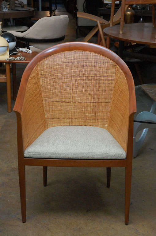 Mid-20th Century Pair of cane armchairs by Kipp Stewart for Directional