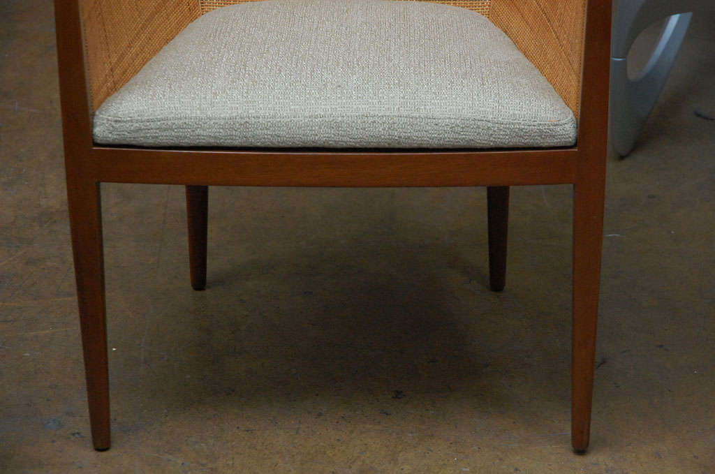 Pair of cane armchairs by Kipp Stewart for Directional 1
