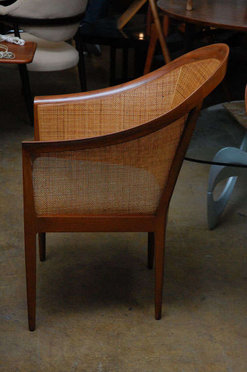 Pair of cane armchairs by Kipp Stewart for Directional 2