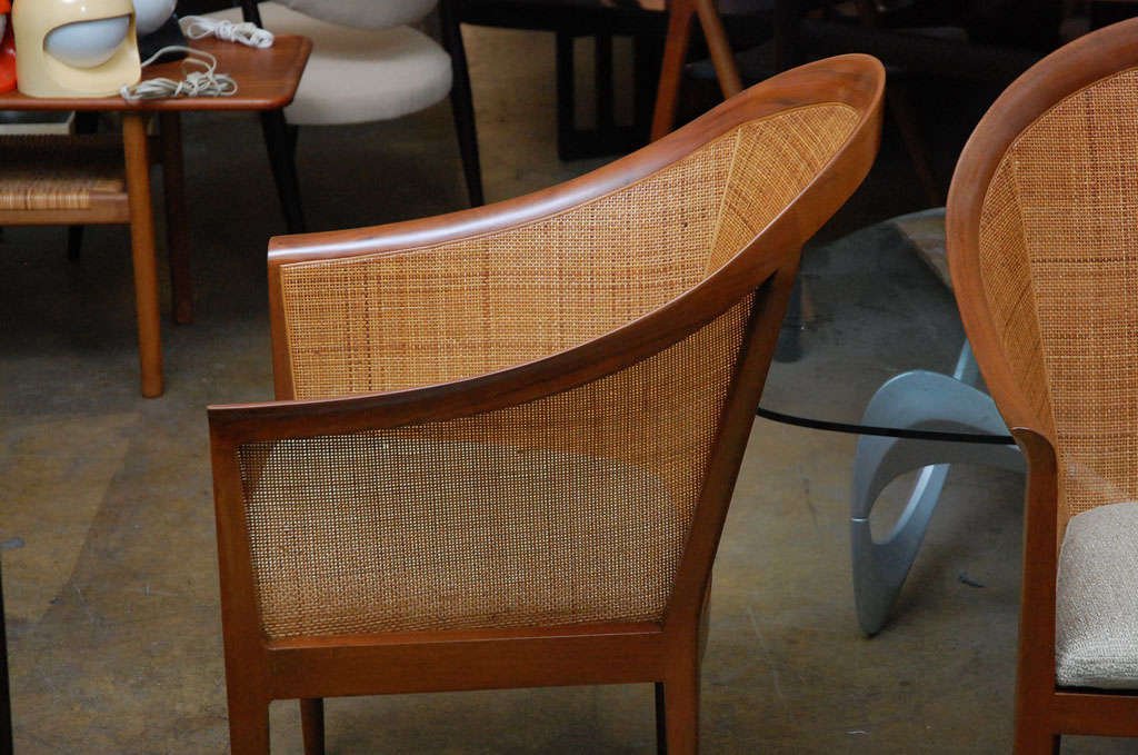 Pair of cane armchairs by Kipp Stewart for Directional 3