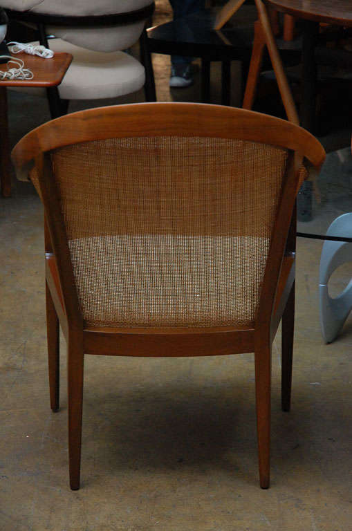 Pair of cane armchairs by Kipp Stewart for Directional 4