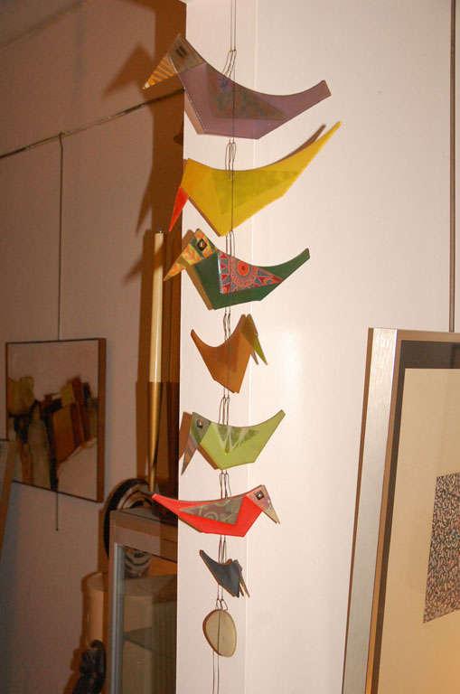 Rare Michael & Frances  Higgins glass birds and egg mobile image 8