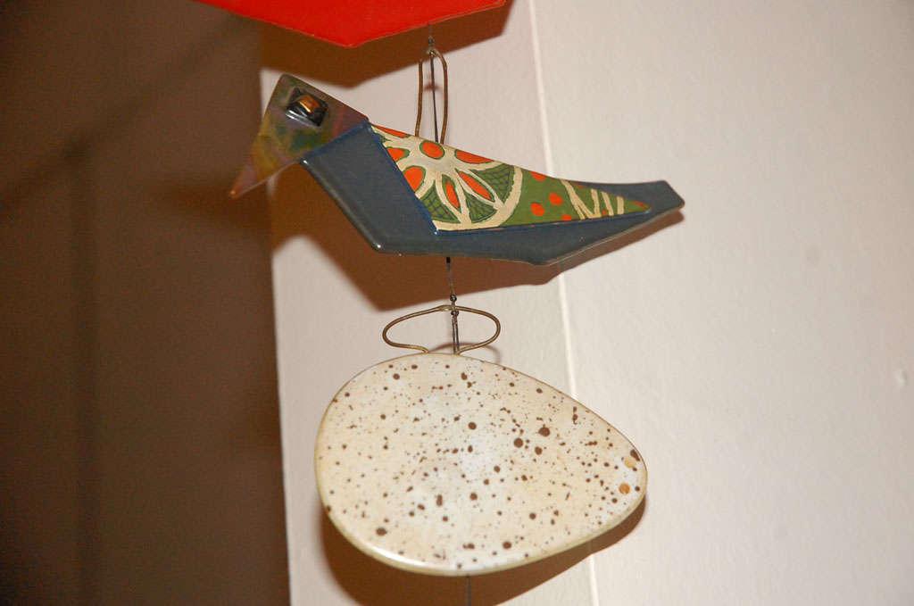 Rare Michael & Frances  Higgins glass birds and egg mobile image 10