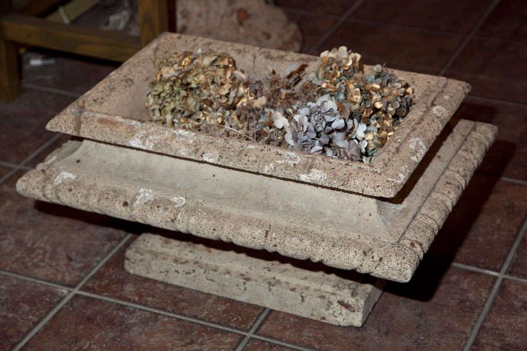 Cast Stone Rectangular Jardiniere For Sale 3