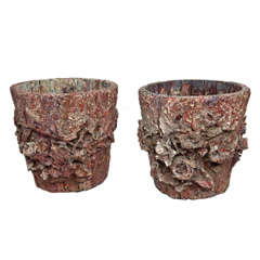 Pair of Wood Water Buckets