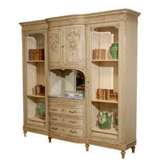 Louis XV Style Painted Armoire