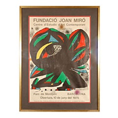 "Original Poster by Miró for the Opening of the ""Fundació Joan Miró,"" 1975"