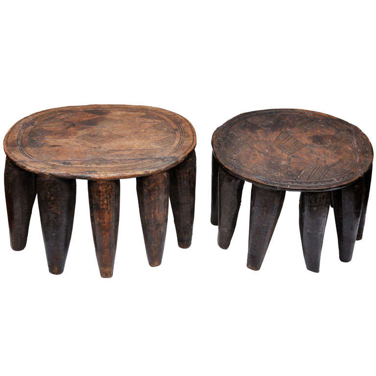 African Nupe Stools At 1stdibs