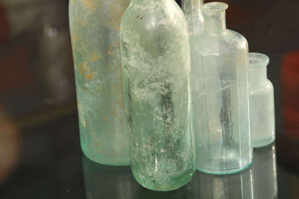 set of 5 aqua bottles image 8