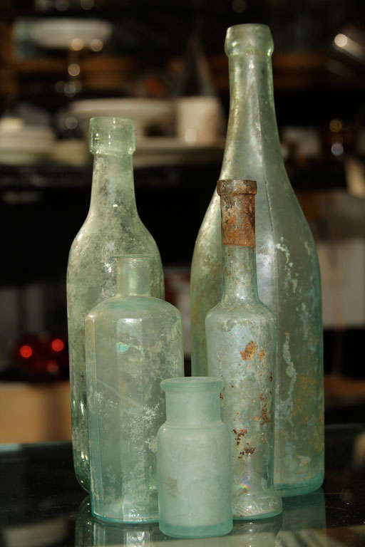 set of 5 aqua bottles image 10