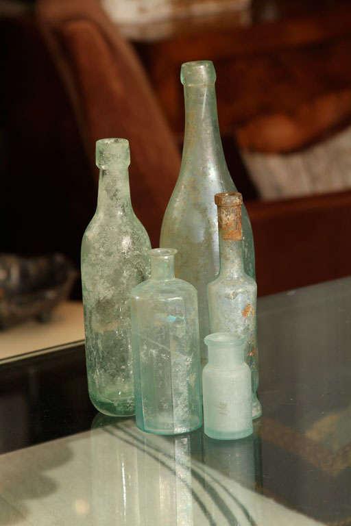 set of 5 aqua bottles image 2