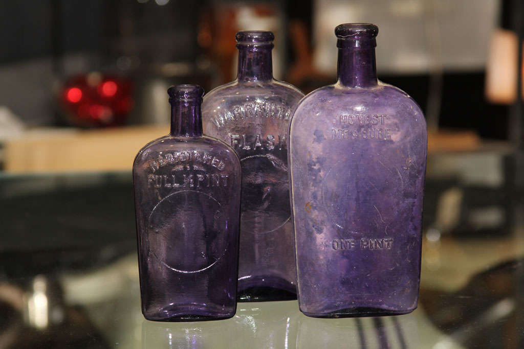 set of 3 purple bottles image 2