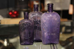 set of 3 purple bottles thumbnail 2
