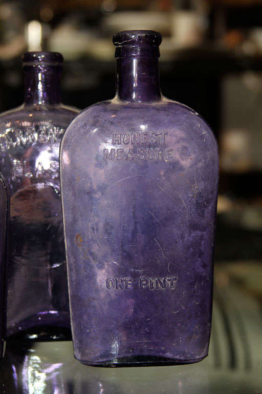 set of 3 purple bottles image 3