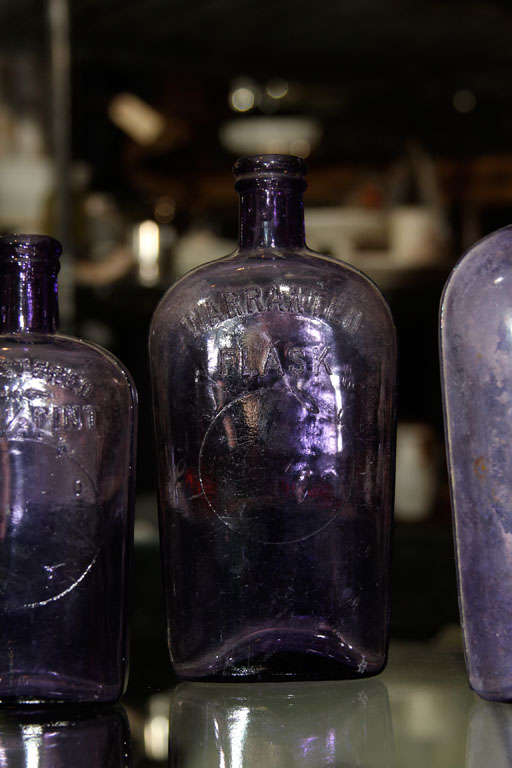 set of 3 purple bottles image 5