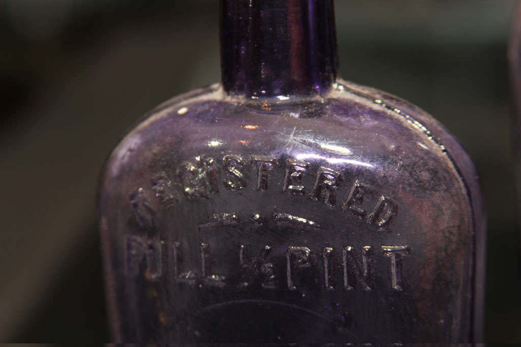 set of 3 purple bottles image 6