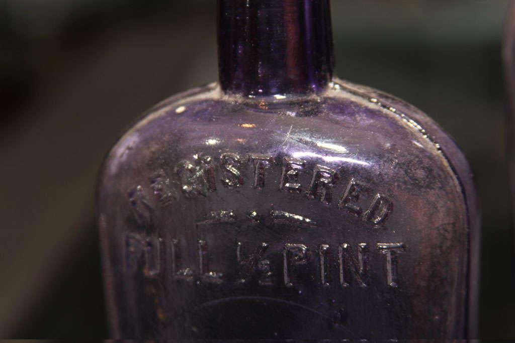 set of 3 purple bottles 6