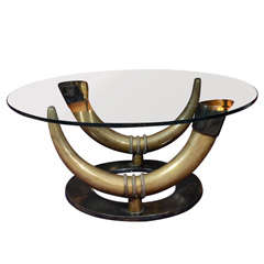 low table in solid bronze