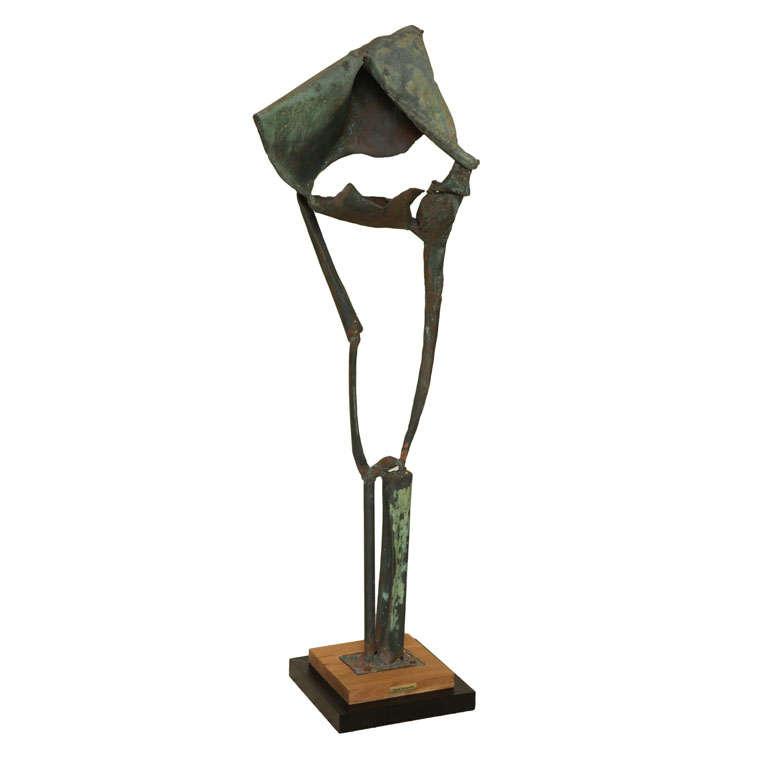 Monumental Modernist Brutal Style Standing Sculpture