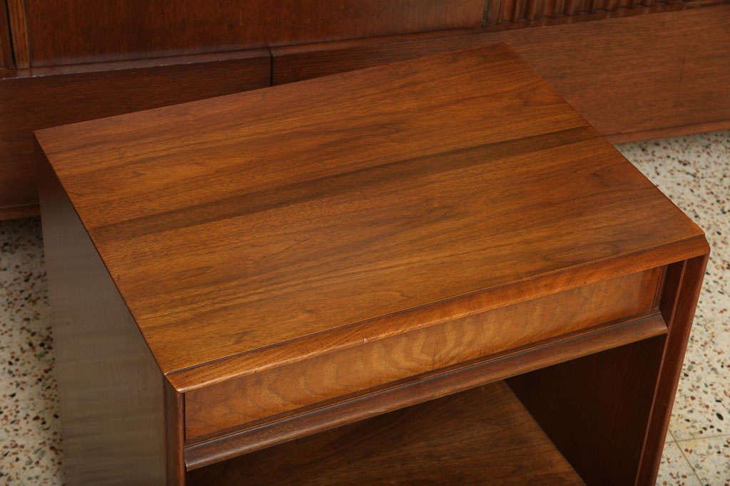 American Robsjohn-Gibbings Walnut Night Table for Widdicomb For Sale