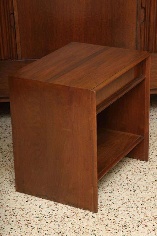 Robsjohn-Gibbings Walnut Night Table for Widdicomb For Sale 1