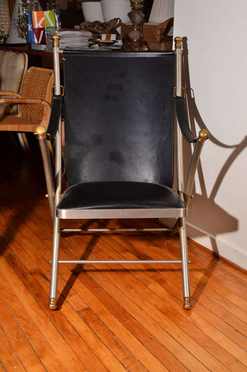 French Maison Jansen Campaign Chair For Sale